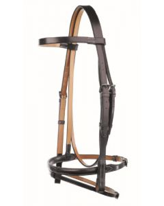 Headstall with Flash Noseband - Traditional Range