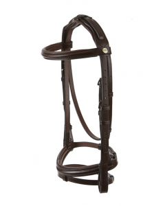 Raised Padded Snaffle With Flash Noseband Padded Headpiece And Nylon Lined Reins - Wembley Pro