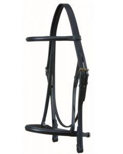 Snaffle with Show Noseband and Rubber Grip Reins - Wembley Range